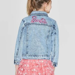 Barbie Jackets & Coats - Girls Barbie 60th Anniversary Denim Jacket XL 3003